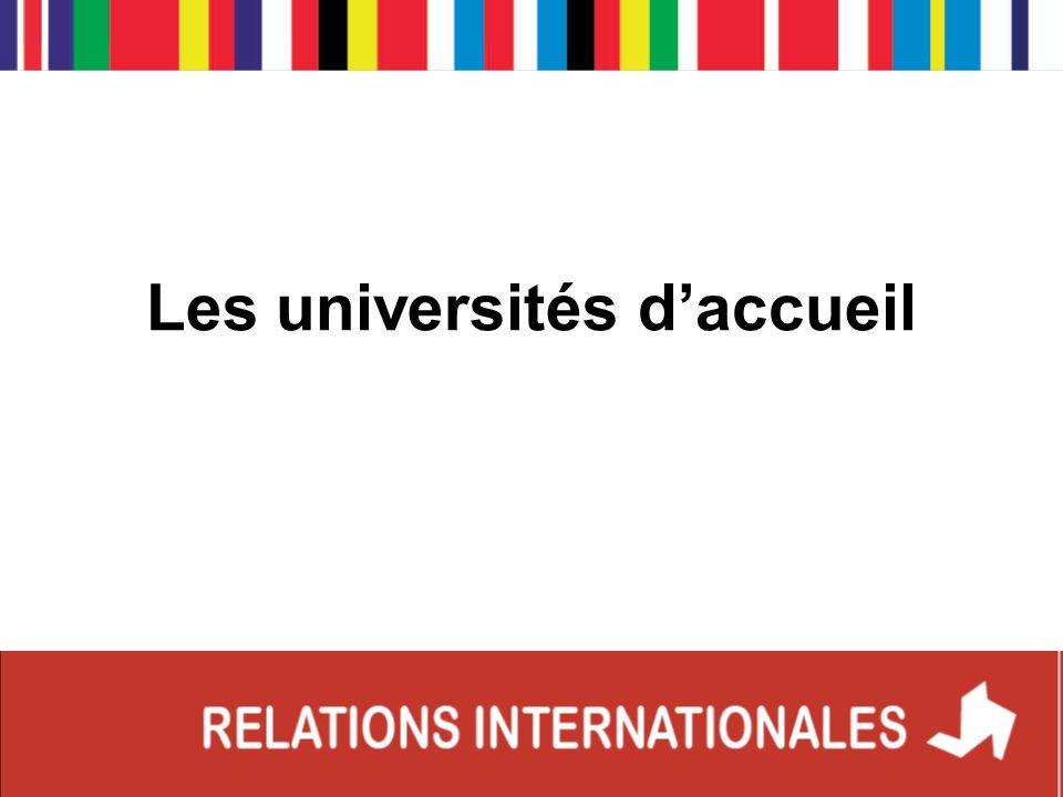 Les universités daccueil