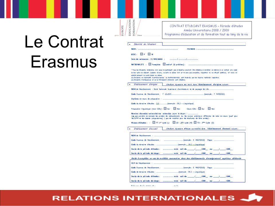 Ce contrat doit absolument être signé avant le départ.