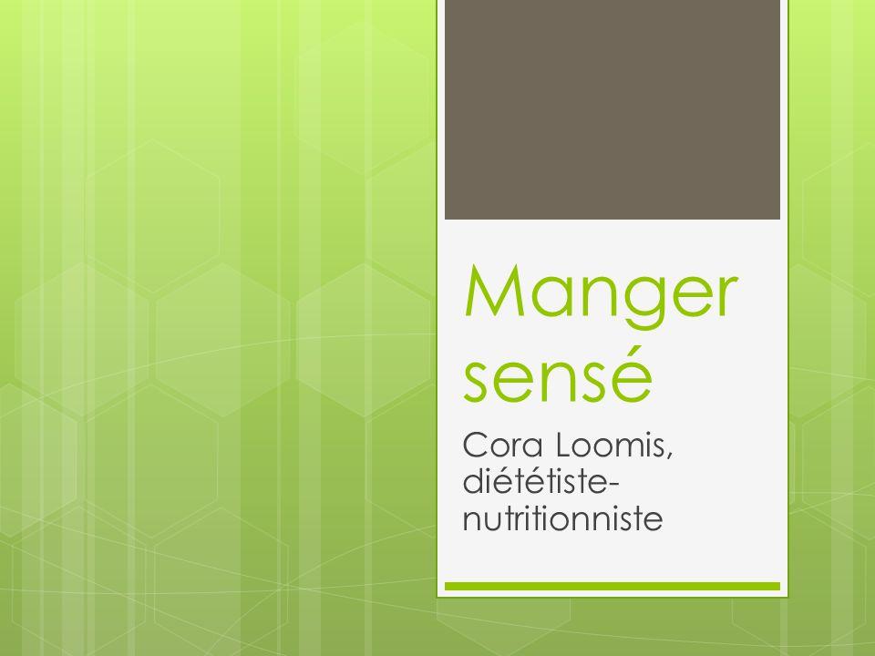 Manger sensé Cora Loomis, diététiste- nutritionniste
