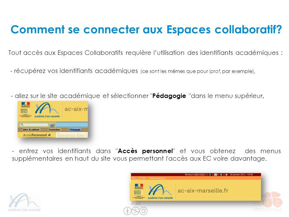 Les étapes pour une collaboration : 1) Cliquer sur Ajouter une collaboration Cherchez et ajoutez un à un les participants.