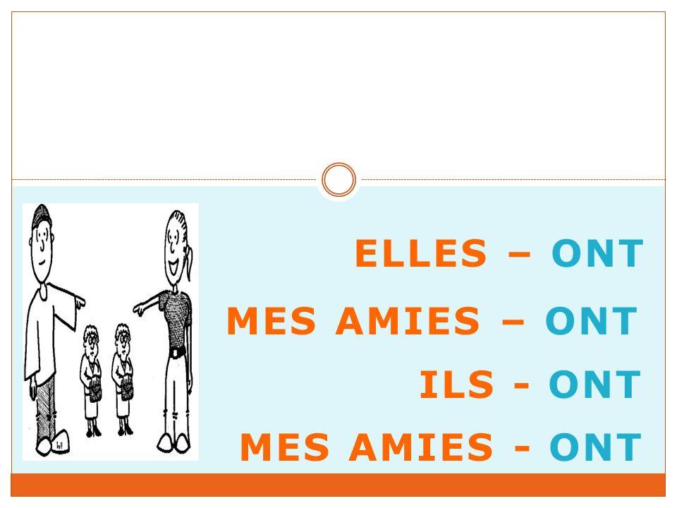 ELLES – ONT MES AMIES – ONT ILS - ONT MES AMIES - ONT