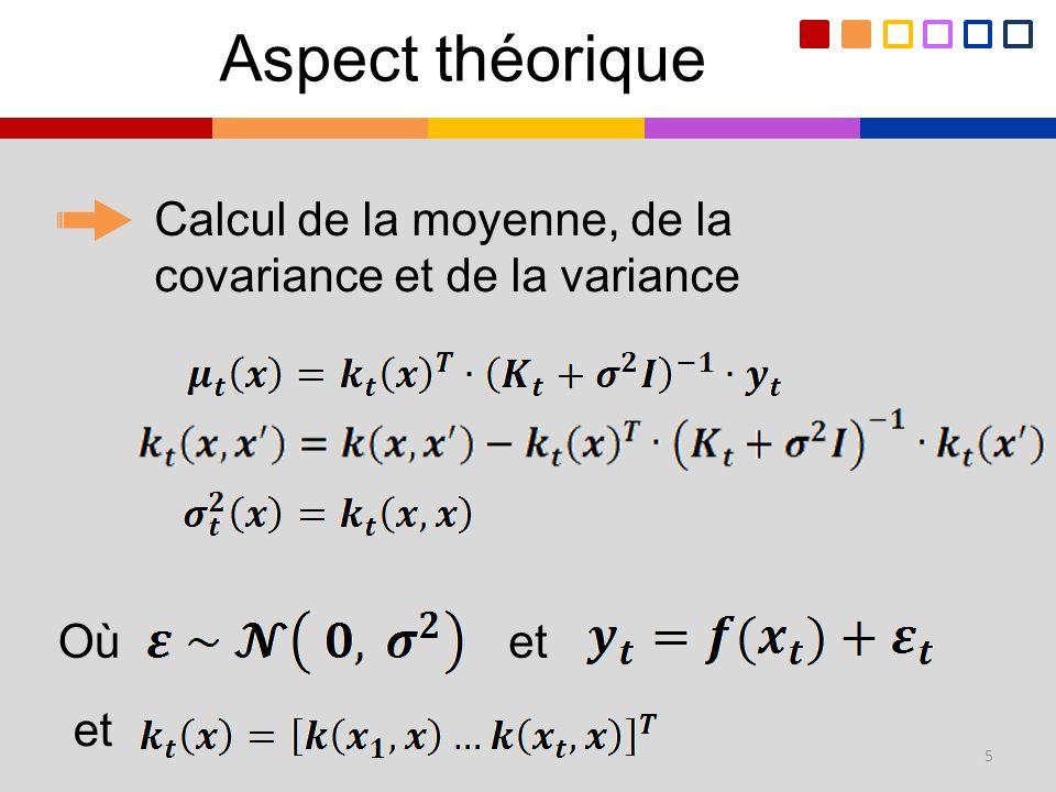 Calcul de la moyenne, de la covariance et de la variance 5 Oùet Aspect théorique