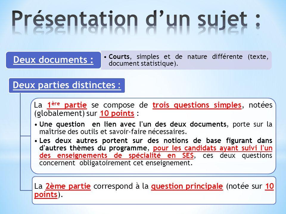Courts, simples et de nature différente (texte, document statistique).