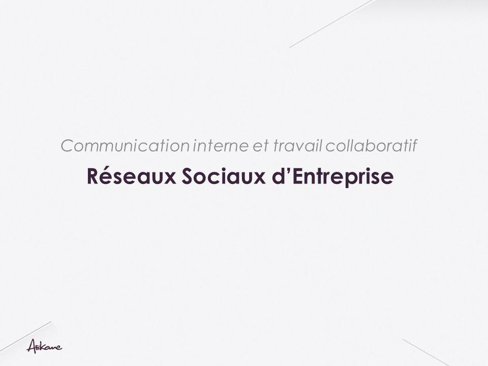 Réseaux Sociaux dEntreprise Communication interne et travail collaboratif