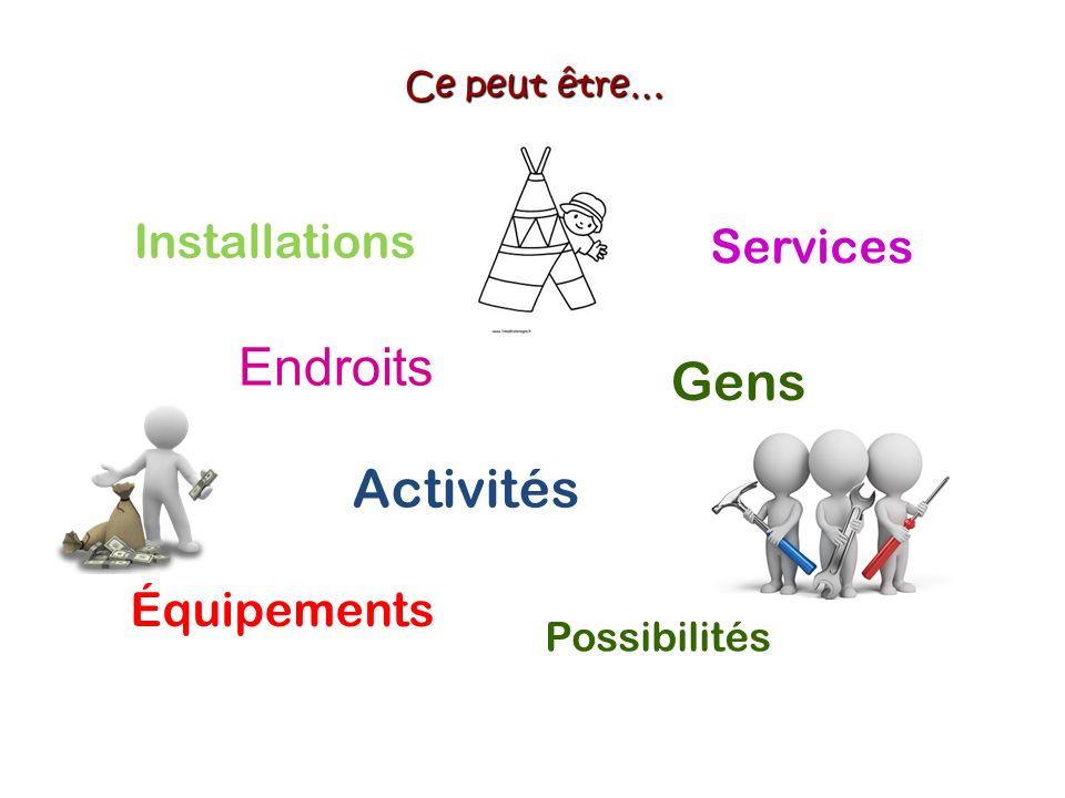 La roue des atouts communautaires Une roue des atouts «cartographie» les ressources dans un groupe, une équipe ou une communauté.