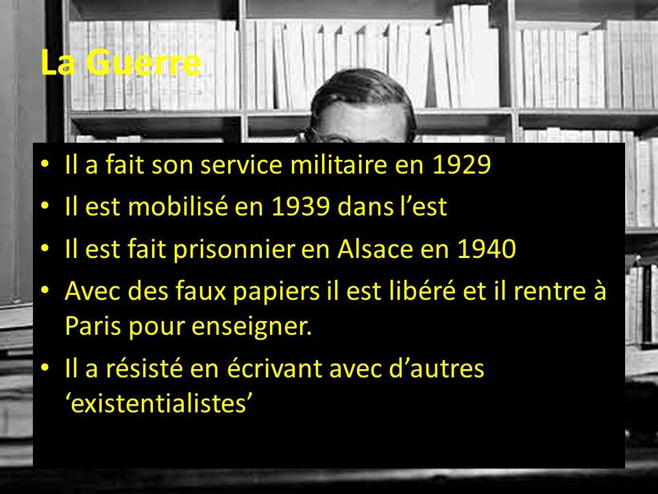 La Guerre Il a fait son service militaire en 1929 Il est mobilisé en 1939 dans lest Il est fait prisonnier en Alsace en 1940 Avec des faux papiers il