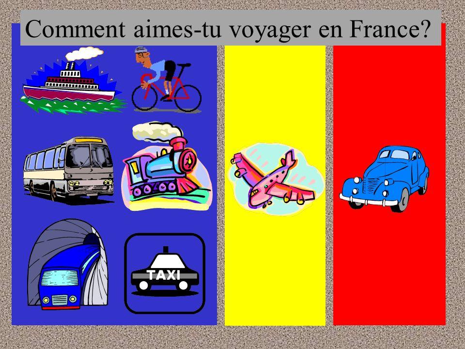 Comment aimes-tu voyager en France?