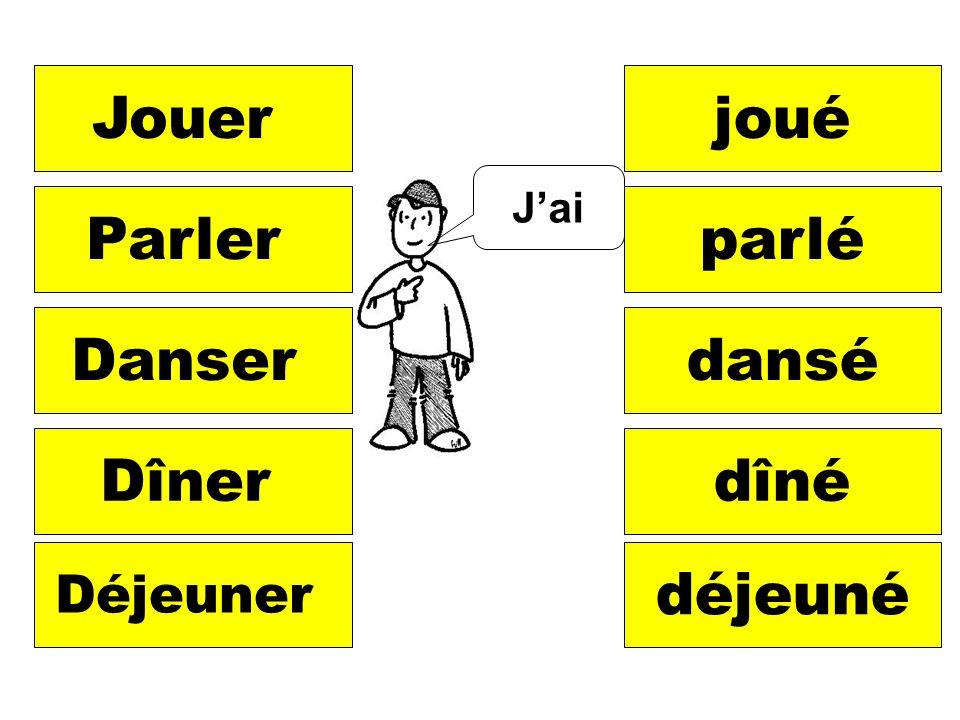 Jai Jouerjoué Parlerparlé Danserdansé Dînerdîné Déjeuner déjeuné