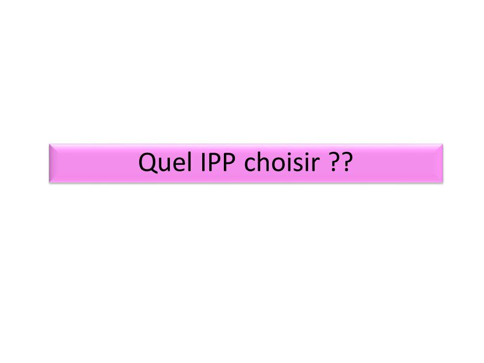 Quel IPP choisir ??