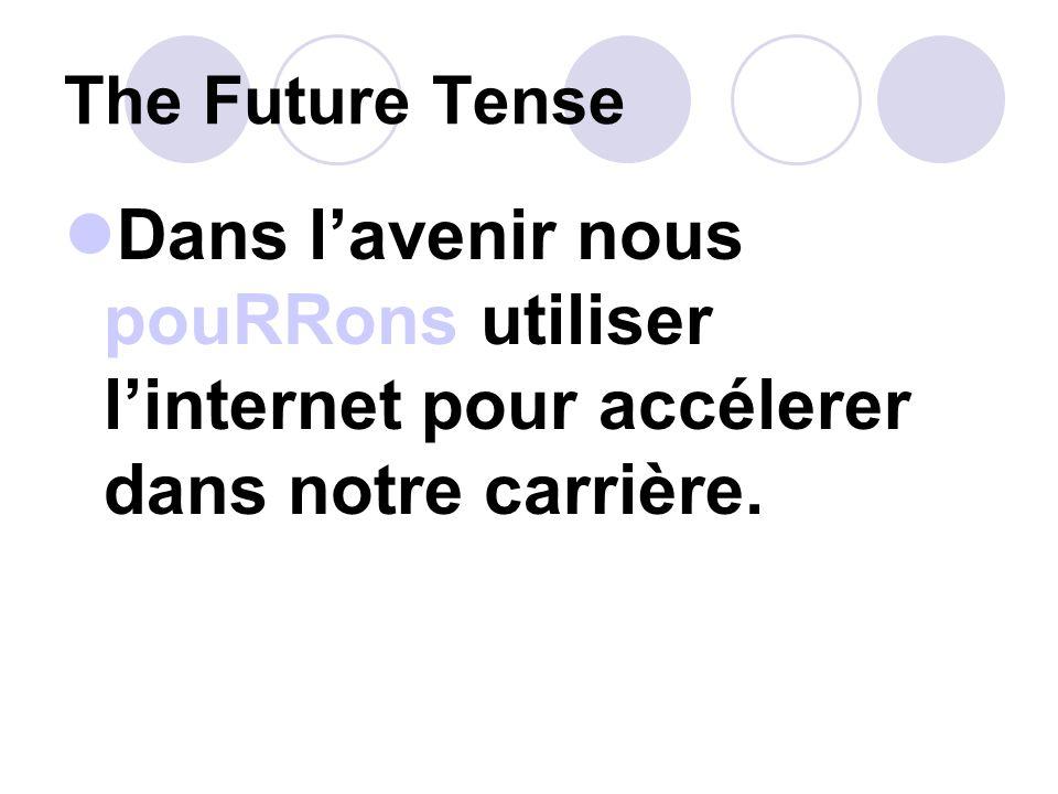 The Future Tense Un jour jaurai un travail avec un bon salaire.