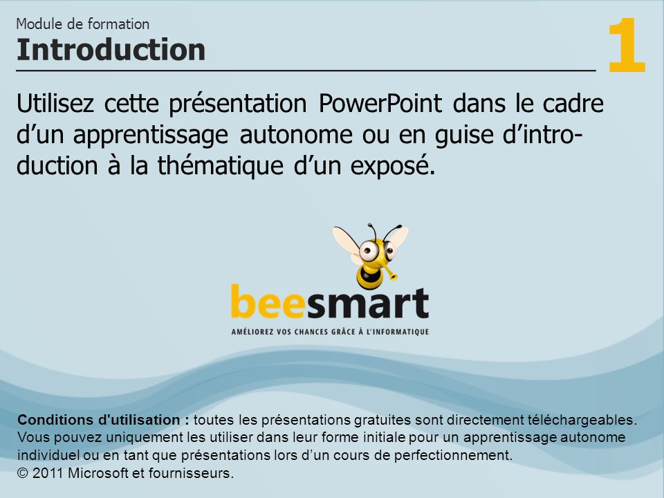 1 Utilisez cette présentation PowerPoint dans le cadre dun apprentissage autonome ou en guise dintro- duction à la thématique dun exposé. Introduction