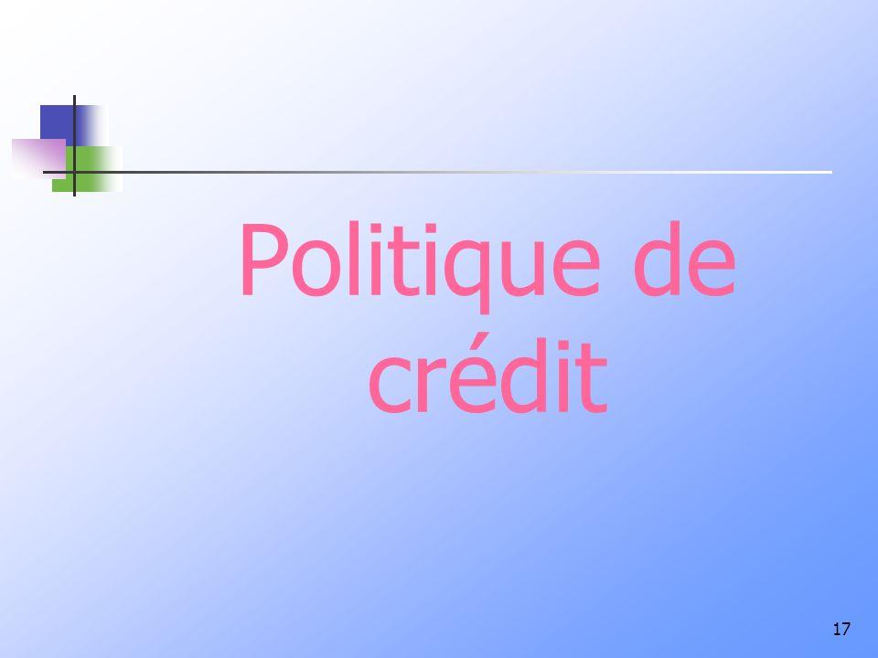 Politique de crédit 17