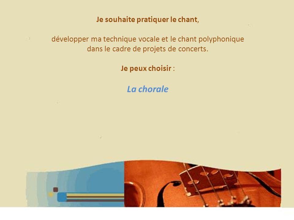Hélène WAGNER 2013 Je souhaite pratiquer le chant, développer ma technique vocale et le chant polyphonique dans le cadre de projets de concerts. Je pe