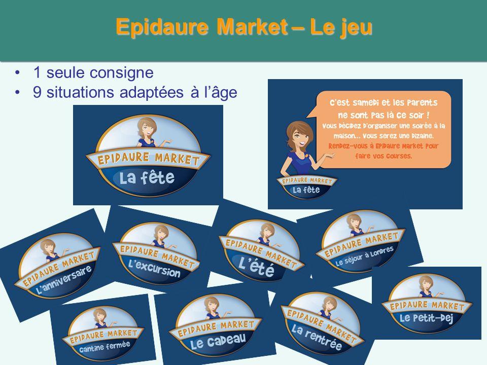 EpidaureMarket – Le jeu Epidaure Market – Le jeu 1 seule consigne 9 situations adaptées à lâge