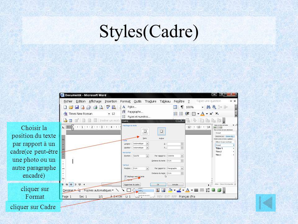 Styles(Langue) cliquer sur Format cliquer sur Langue Choisir la langue utilisée pour ce paragraphe