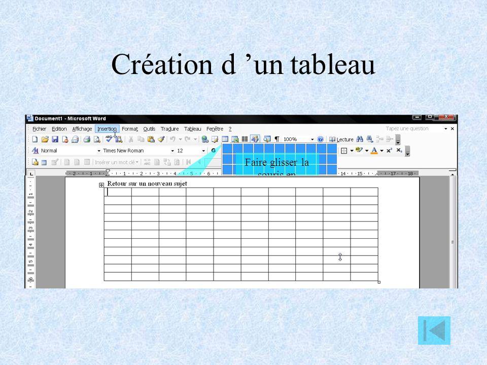 Utilisation des tableaux Création et modification d un tableau Additionner les données d un tableau Tri dans un tableau