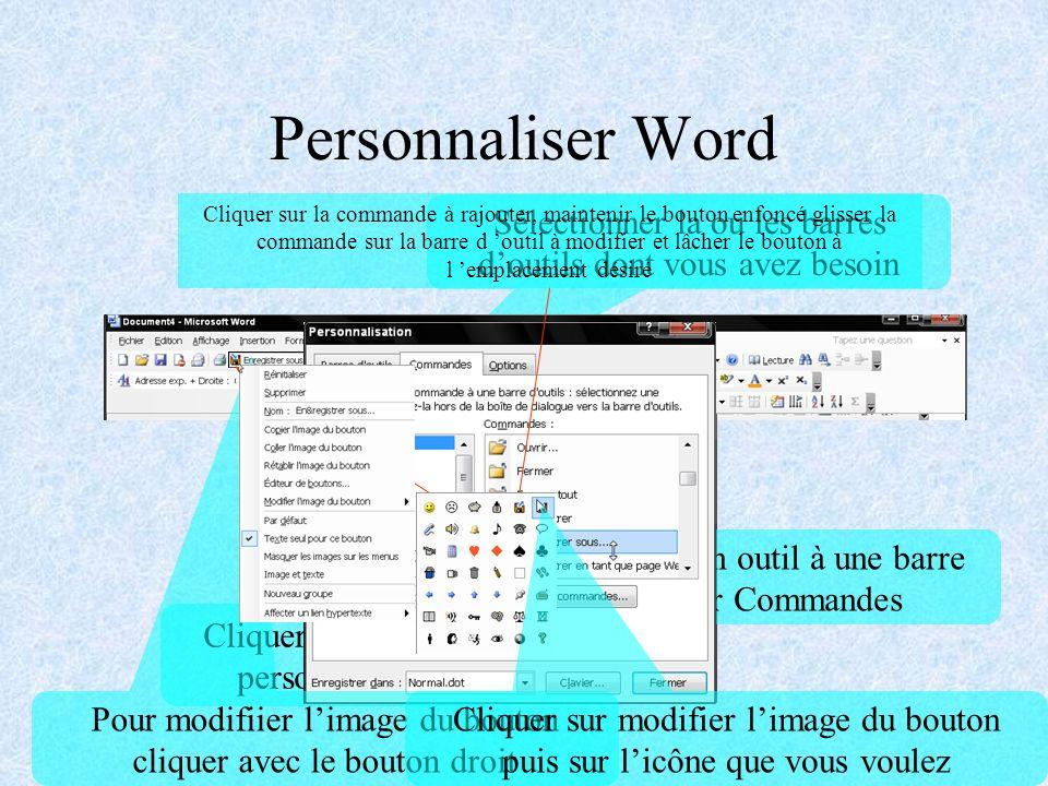 Créer un modèle Cliquer sur Fichier Cliquer sur Enregistrer sous Cliquer sur la flèche Type de fichier Cliquer sur Modèle de document Taper le nom du fichier Cliquer sur Enregistrer