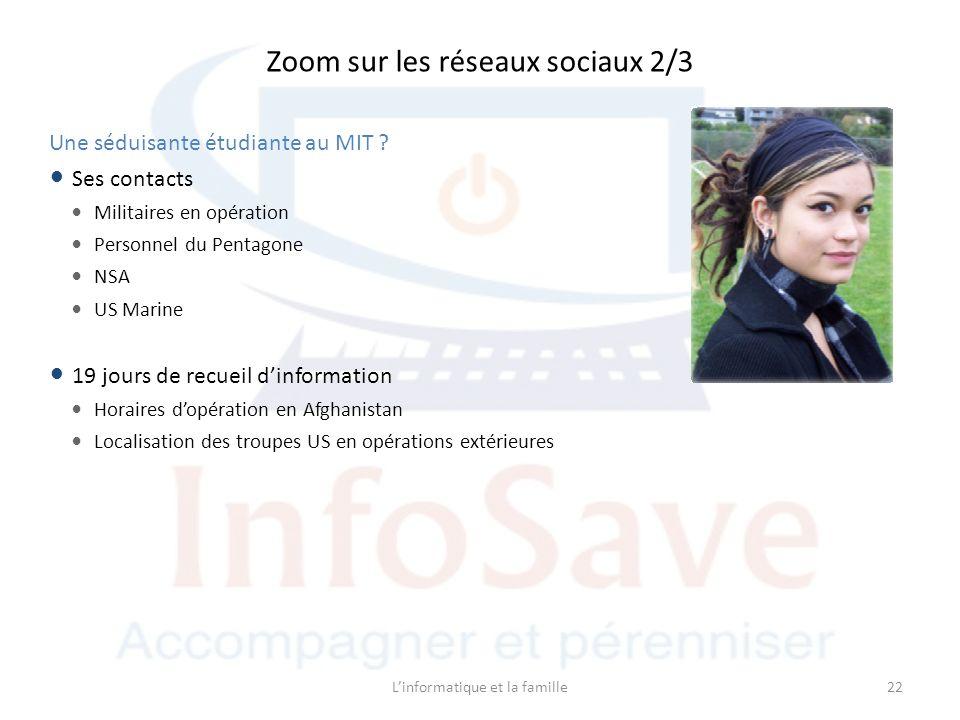 Linformatique et la famille22 Une séduisante étudiante au MIT .