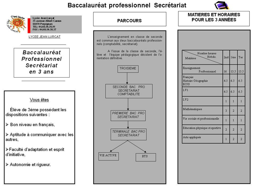 Baccalauréat professionnel Secrétariat