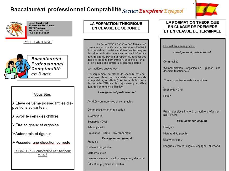 Baccalauréat professionnel Comptabilité Section Européenne Espagnol