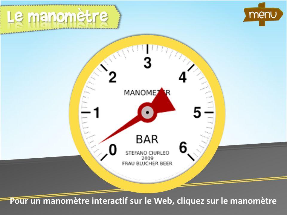 Pour un manomètre interactif sur le Web, cliquez sur le manomètre