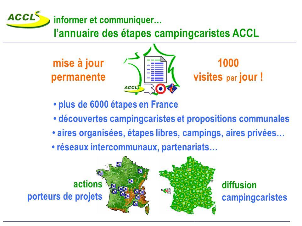 promouvoir les réalisations… Revues spécialisées, cartes et guides : Camping-Car Magazine, Le Monde du Camping-Car CDT, OT, communes : plaquettes, gui
