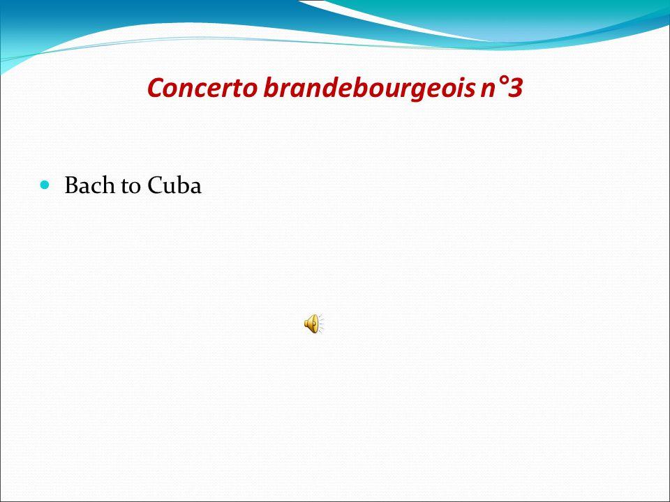 Concerto brandebourgeois n°3 Bach to Cuba