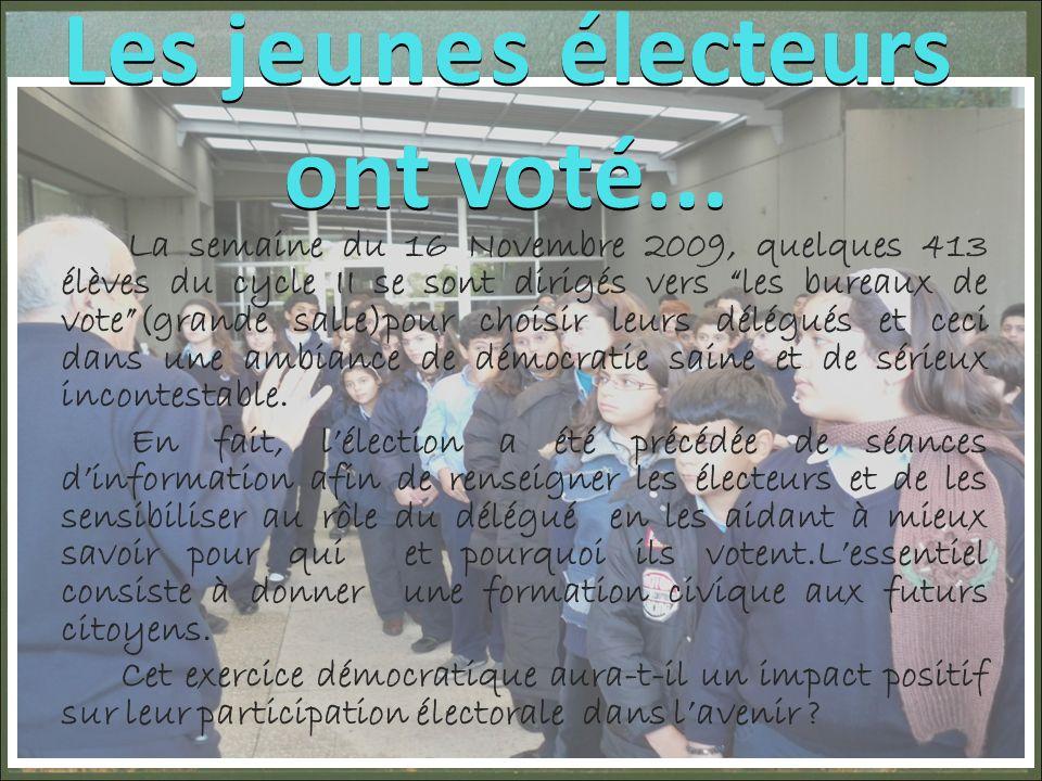 Les jeunes électeurs ont voté...