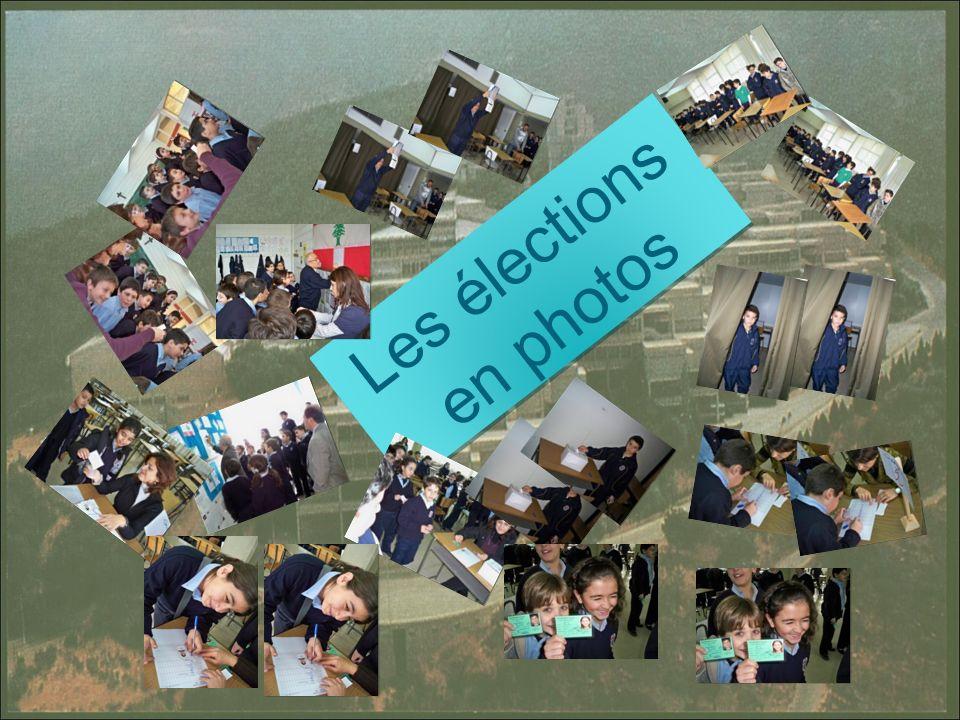 Les élections en photos