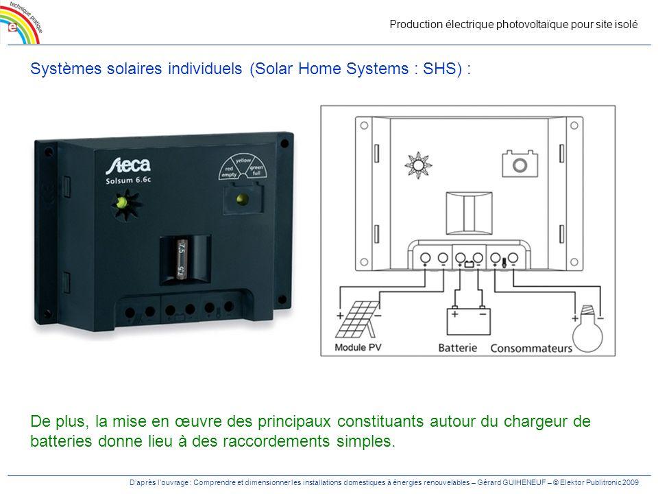 Production électrique photovoltaïque pour site isolé Daprès louvrage : Comprendre et dimensionner les installations domestiques à énergies renouvelabl