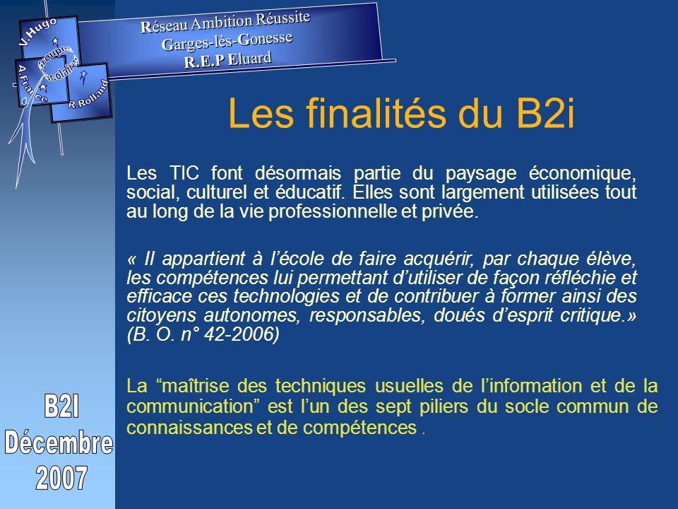 Les finalités du B2i Les TIC font désormais partie du paysage économique, social, culturel et éducatif.