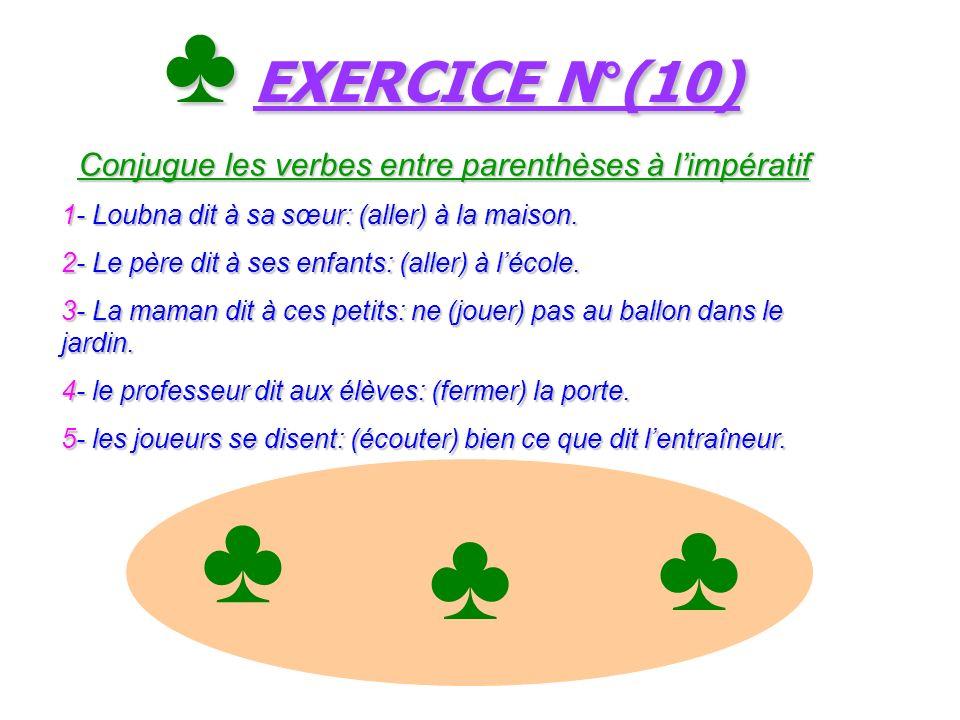 Le ç on N°(10) Le verbe Aller + quelques verbes usuels à l imp é ratif(2) Le ç on N°(10) Le verbe Aller + quelques verbes usuels à l imp é ratif(2) Al