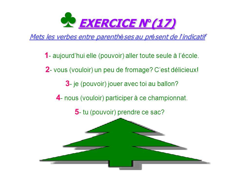 Le ç on N°(17) (pouvoir et vouloir): verbes du 3 e groupe au pr é sent de l indicatif Le ç on N°(17) (pouvoir et vouloir): verbes du 3 e groupe au pr
