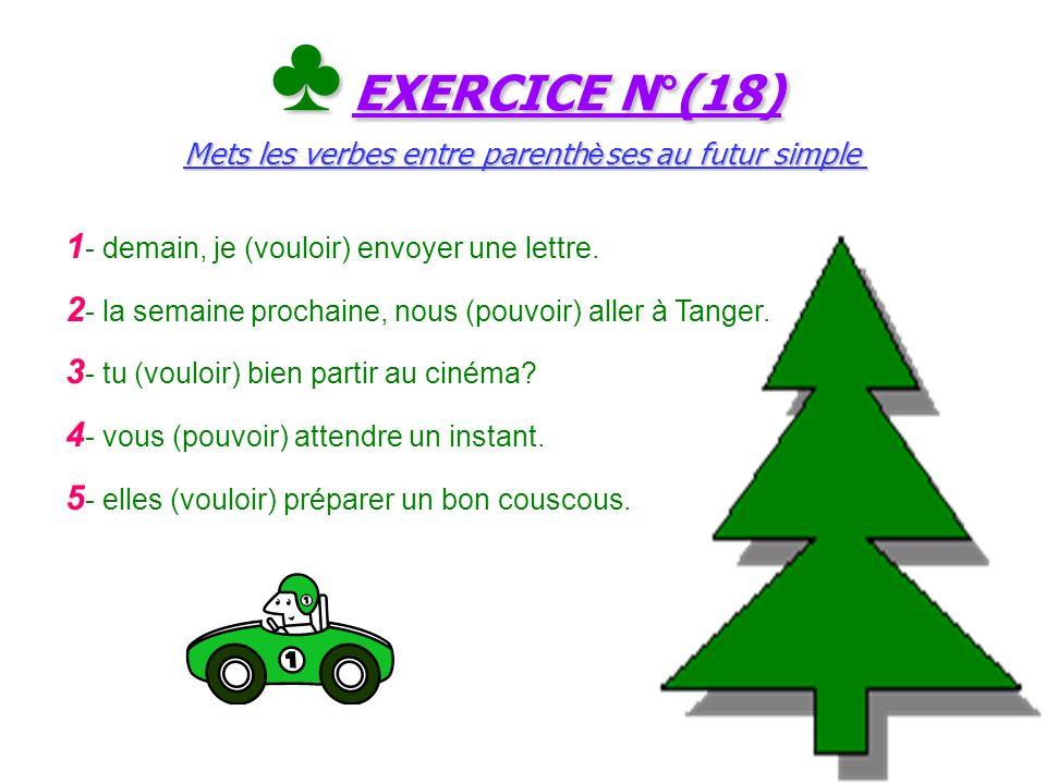 Le ç on N°(18) (pouvoir et vouloir): verbes du 3 e groupe au futur simple Le ç on N°(18) (pouvoir et vouloir): verbes du 3 e groupe au futur simple Po
