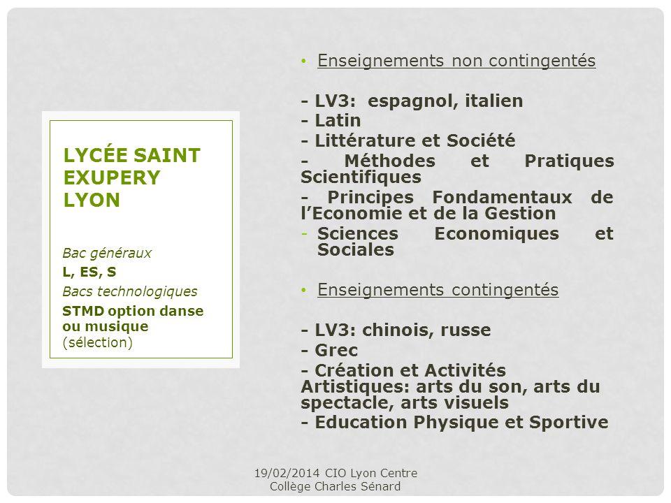 Enseignements non contingentés - LV3: espagnol, italien - Latin - Littérature et Société - Méthodes et Pratiques Scientifiques - Principes Fondamentau