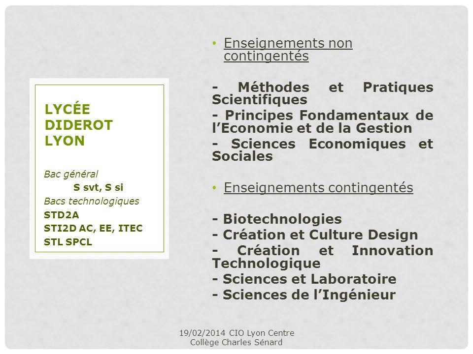 Enseignements non contingentés - Méthodes et Pratiques Scientifiques - Principes Fondamentaux de lEconomie et de la Gestion - Sciences Economiques et