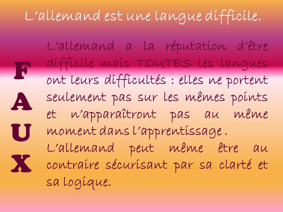Lallemand est une langue difficile.