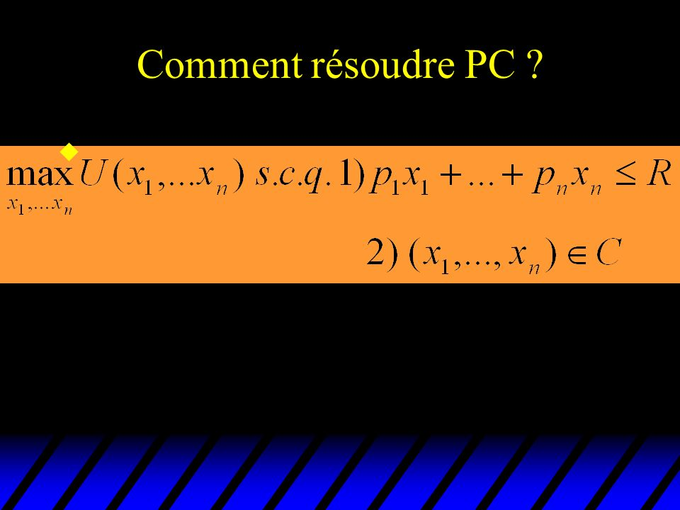 Comment résoudre PC ? u