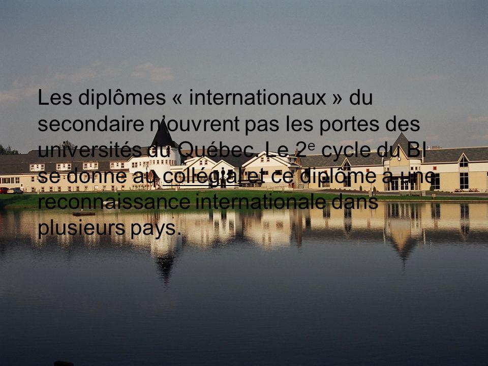 Les diplômes « internationaux » du secondaire nouvrent pas les portes des universités du Québec.