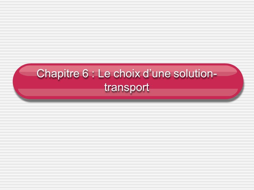 Chapitre 6 : Le choix dune solution- transport