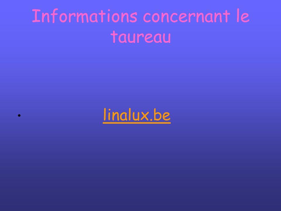 Informations concernant le taureau linalux.be