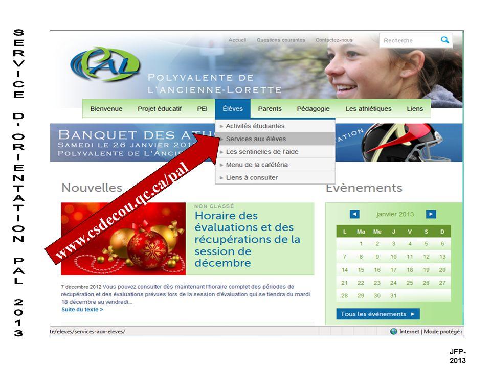 www.csdecou.qc.ca/pal JFP- 2013