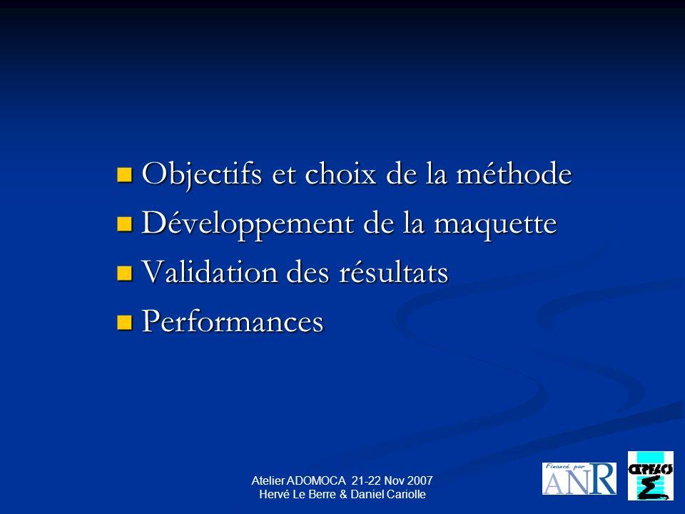 Atelier ADOMOCA 21-22 Nov 2007 Hervé Le Berre & Daniel Cariolle Tests actuels sur le pas de temps : Tests actuels sur le pas de temps :.