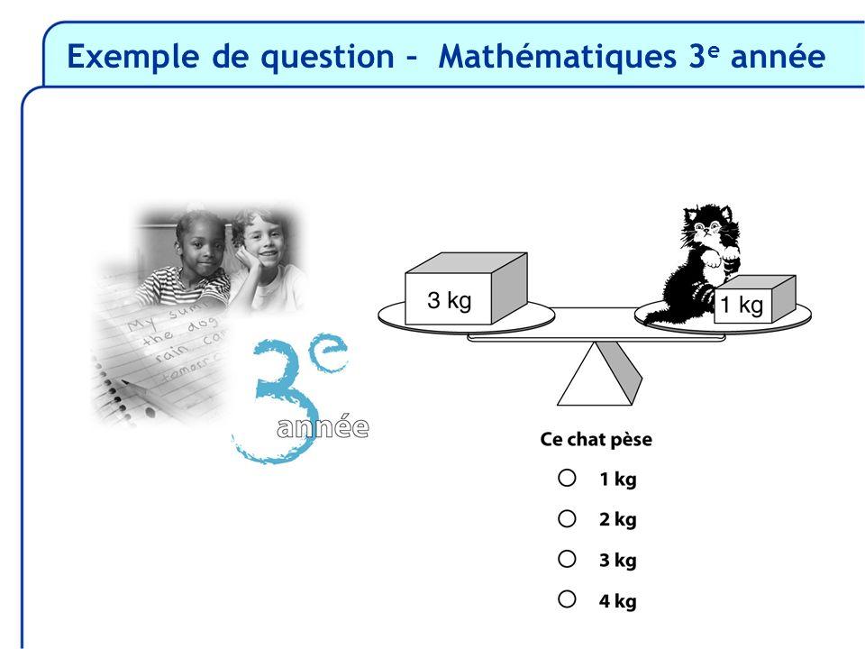 Exemple de question – Mathématiques 3 e année