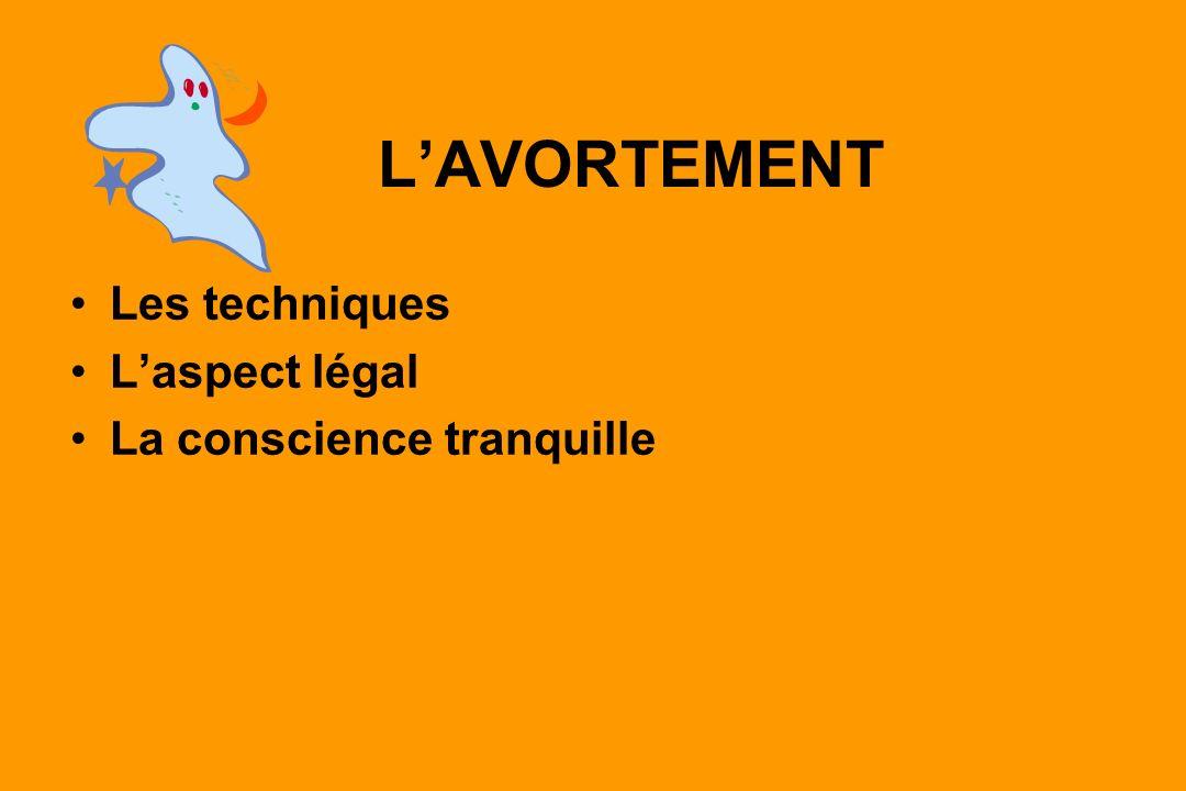 LAVORTEMENT Les techniques Laspect légal La conscience tranquille