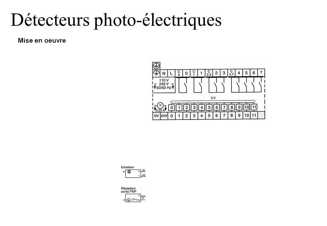 Détecteurs photo-électriques Mise en oeuvre