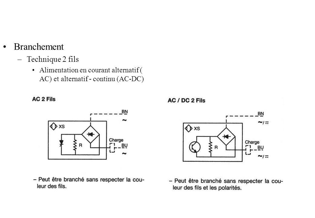 Branchement –Technique 2 fils Alimentation en courant alternatif ( AC) et alternatif - continu (AC-DC)