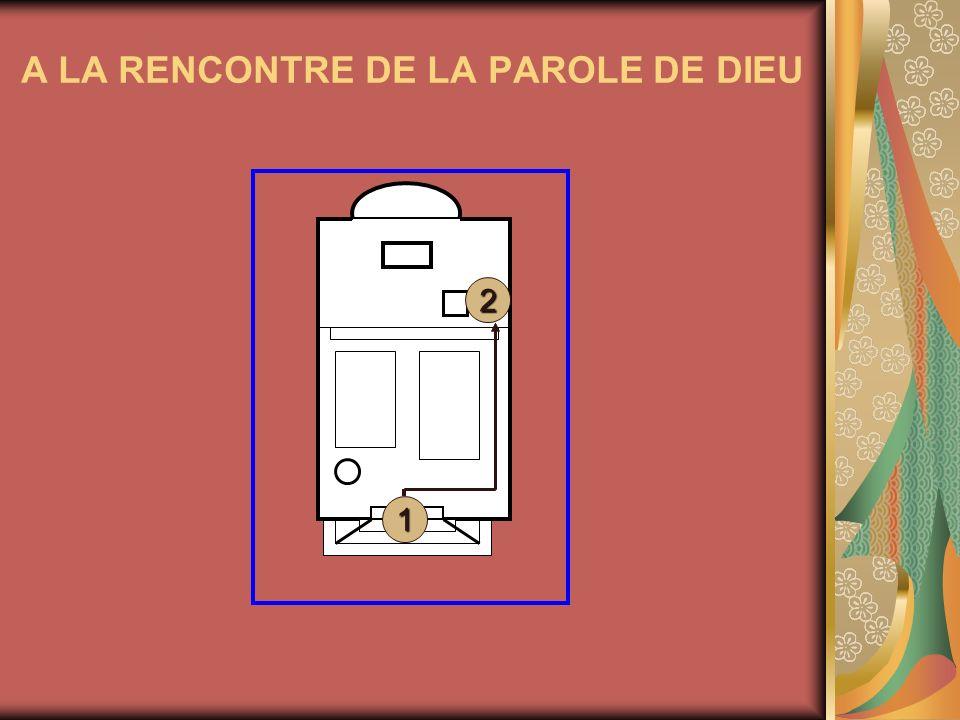 A LA RENCONTRE DE LA PAROLE DE DIEU 1 2