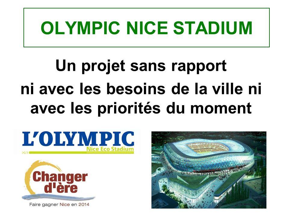 OLYMPIC NICE STADIUM Un projet sans rapport ni avec les besoins de la ville ni avec les priorités du moment