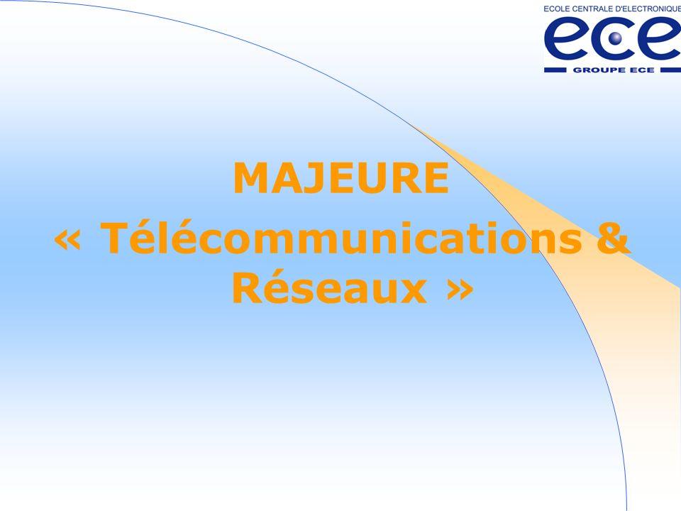 MAJEURE « Télécommunications & Réseaux »